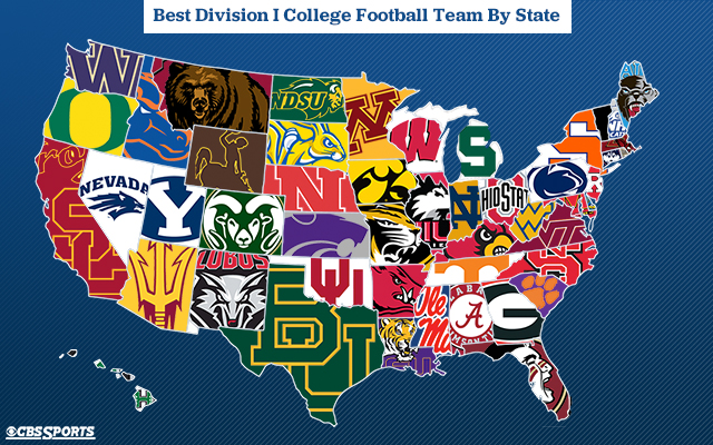 Best college football team in each state - MWC Sports ...